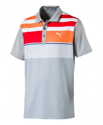 Puma Golf Boys Road Map Asym Polo Shirt