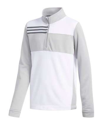 Detská golfová mikina Adidas Fashion 3-Stripes 2018