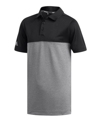 Dětské golfové triko Adidas Heather Colour Block 2019