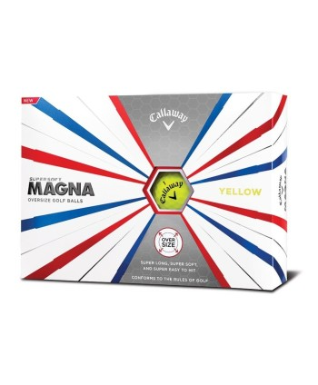 Golfové míčky Callaway Supersoft Magna - žluté