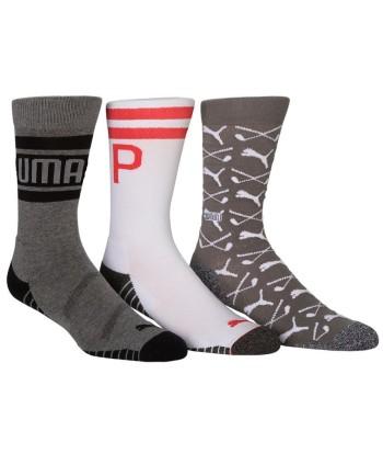 Pánske golfové ponožky Puma Fusion Argyle Crew