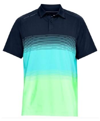 Pánské golfové triko Under Armour Playoff Bold Stripe 2018