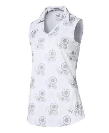Puma Ladies Blossom Sleeveless Polo Shirt