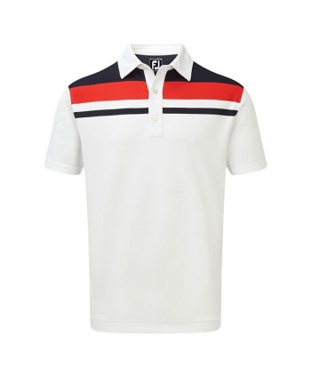 Pánské golfové triko FootJoy Stretch Pique Colour Block Yoke