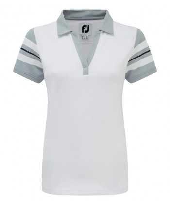 Dámske golfové tričko FootJoy Baby Pique Sleeve Stripe