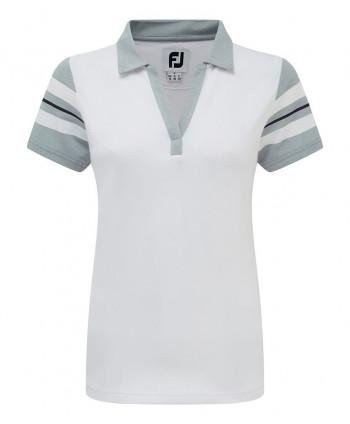 FootJoy Ladies Stretch Pique Open V-Neck Polo Shirt