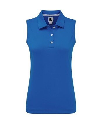 FootJoy Ladies Stretch Pique Open V-Neck Polo Shirt