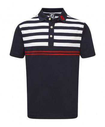 Dětské golfové triko FootJoy Smooth Pique Graphic