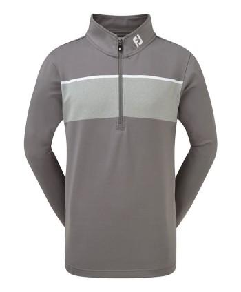 Dětská golfová mikina FootJoy Jersey Chest Stripe Chill Out