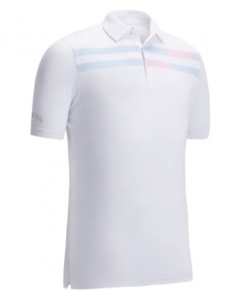 Callaway Mens Linear Printed Polo Shirt