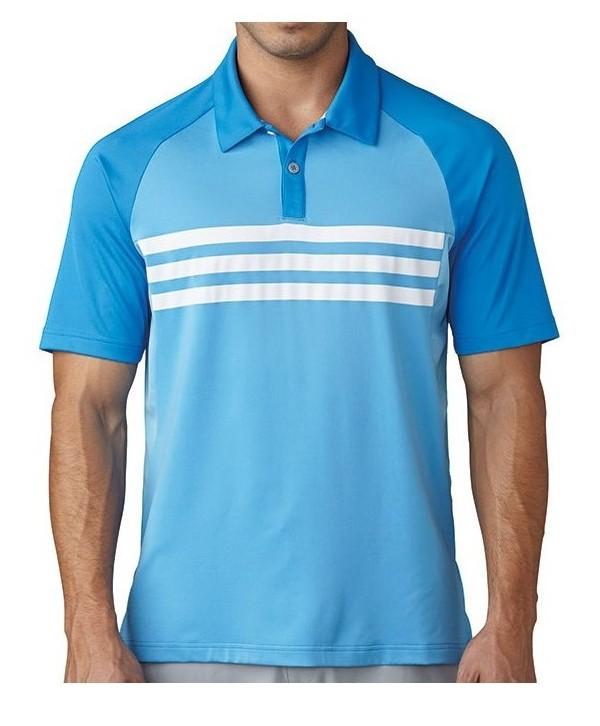 Pánské golfové triko Adidas ClimaCool 3 Stripes Competition 2017