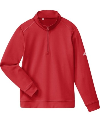 Dětská golfová mikina Adidas Half Zip Solid Layer