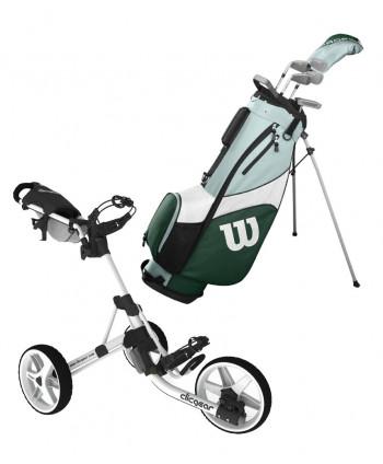 Dámský golfový set Wilson HDX Combo + golfový vozík Clicgear 3.5+