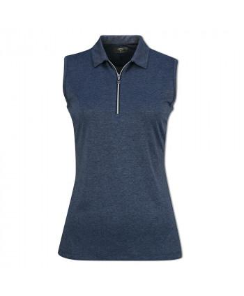 Dámské golfové triko Callaway Quarter Zip Heathered