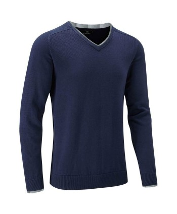 Pánský golfový svetr Stuburt Vapour Casual V Neck Sweater