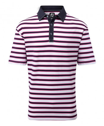 FootJoy Mens Lisle Multi-Stripe Polo Shirt