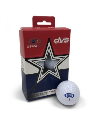 Dětské golfové míčky US Kids DVS, žluté (6 ks)