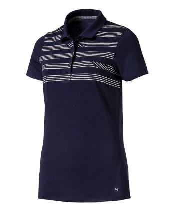 Dámské golfové triko Puma Step Stripe 2019