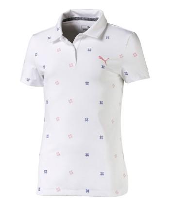 Dievčenské golfové tričko Puma Blossom 2019