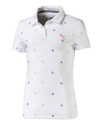 Puma Girls Floral Polo Shirt