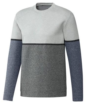 adidas Mens Adicross Heather Fleece Crew Sweatshirt