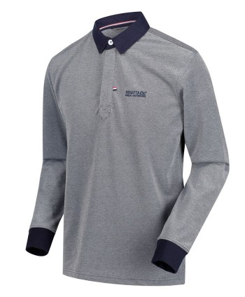 Regatta Mens Panos Long Sleeve Polo Shirt