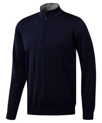 Pánský golfový svetr Adidas AdiPure Quarter Zip