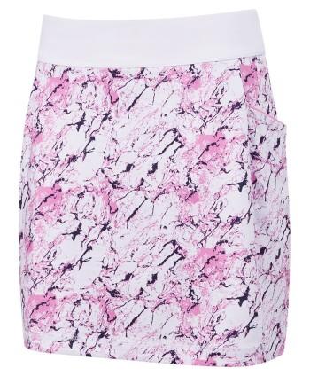 Dámská golfová sukně Callaway Liquid Pink Printed 2019
