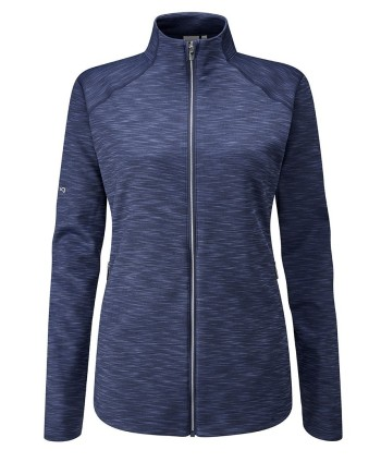 Ping Ladies Tessa Heathered Performance Fleece Jacket