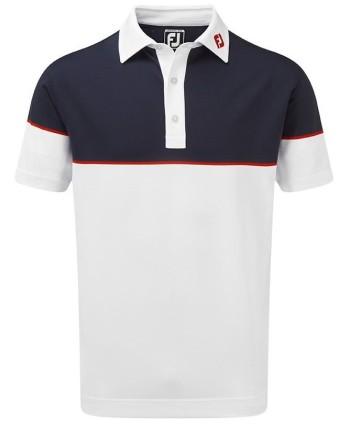 Pánské golfové triko FootJoy Colour Block Stretch Pique 2019
