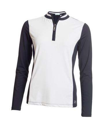 Green Lamb Ladies Fortuna Raglan Long Sleeve Polo Shirt