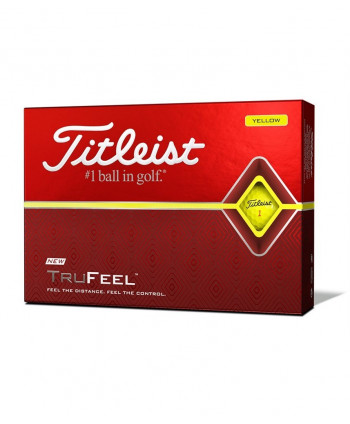 Titleist TruFeel Yellow Golf Balls (12 Balls)