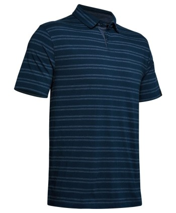 Pánske golfové tričko Under Armour Charged Cotton Scramble Stripe