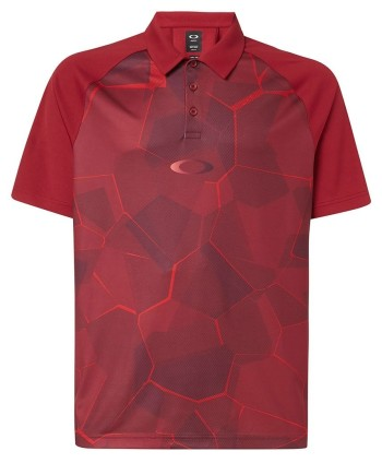 Oakley Mens Enhance SS Mock 9.0 Polo Shirt