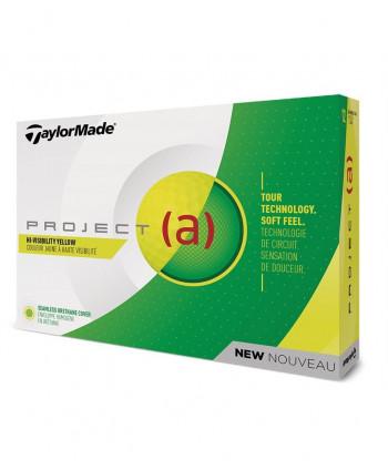Golfové míčky TaylorMade Project (a) (12 ks) - žluté