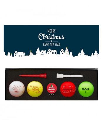 Vánoční balení golfových míčků Volvik (4ks)