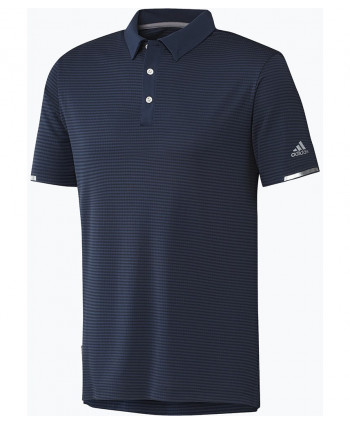 adidas Mens Heat Ready Stripe Polo Shirt