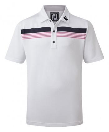 Detské golfové tričko FootJoy Stretch Pique Chestband