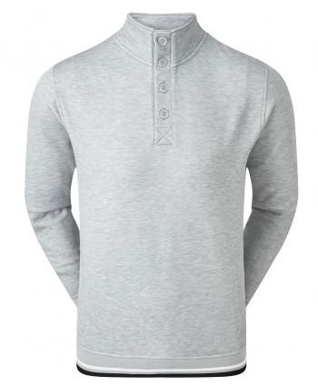 Pánská golfová mikina FootJoy Jersey Fleece Backed Buttoned Collar