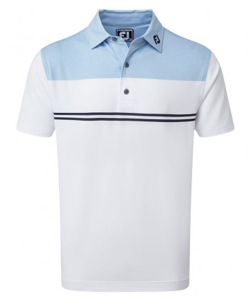 FootJoy Mens Smooth Pique FJ Print Polo Shirt 2020
