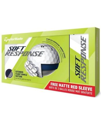 Golfové míčky TaylorMade Soft Response Matt Yellow