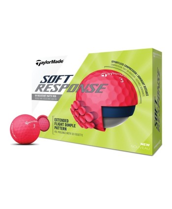 Golfové míčky TaylorMade Soft Response Matt Red