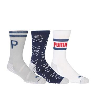 Pánské golfové ponožky Puma Fusion Crew (3 páry)