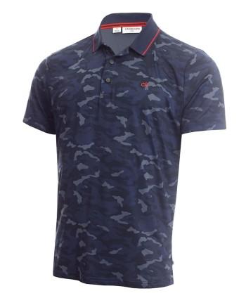 Calvin Klein Mens Camo Pro Polo Shirt