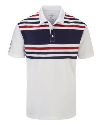 Pánské golfové triko Stuburt Evolve Pure Stripe 2020