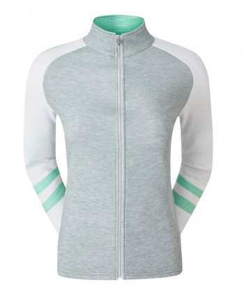 Dámská golfová mikina FootJoy Full Zip Rag Colour Block Mid Layer