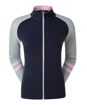 FootJoy Ladies Full Zip Raglan Colour Block Mid Layer Top