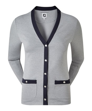 FootJoy Ladies Jersey Fleece Snap Placket Cardigan