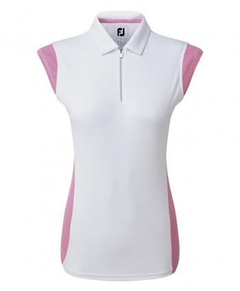 Dámské golfové triko FootJoy Micro Interlock Princess Seam Cap Sleeve