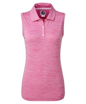 Dámske golfové tričko FootJoy Lisle Neck Trim Sleeveless